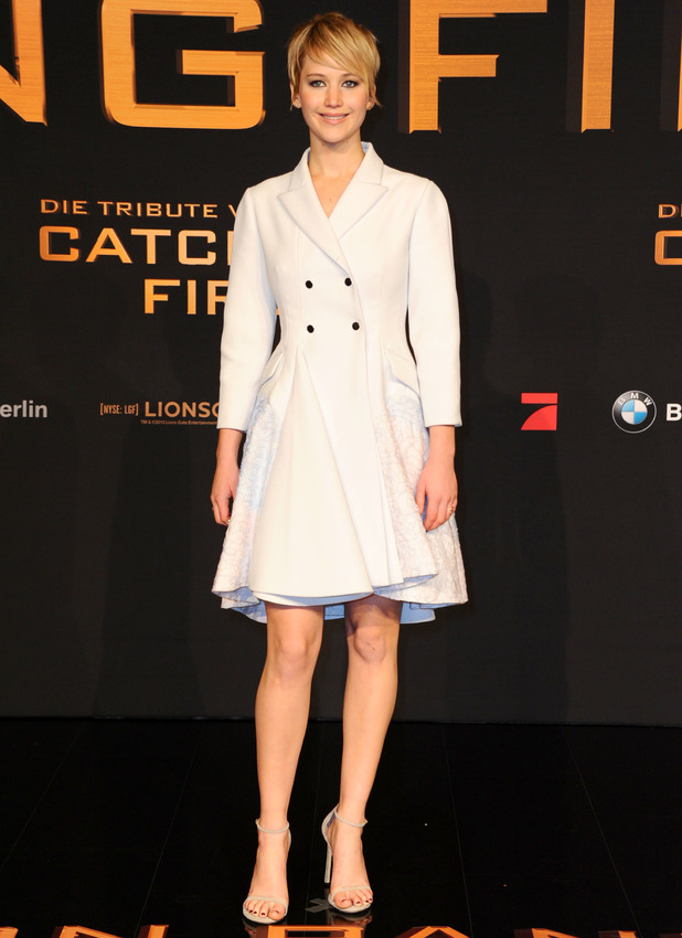 Jennifer Lawrence at the premiere of The Hunger Games: Catching Fire in Berlin, Germany - 12 November 2013