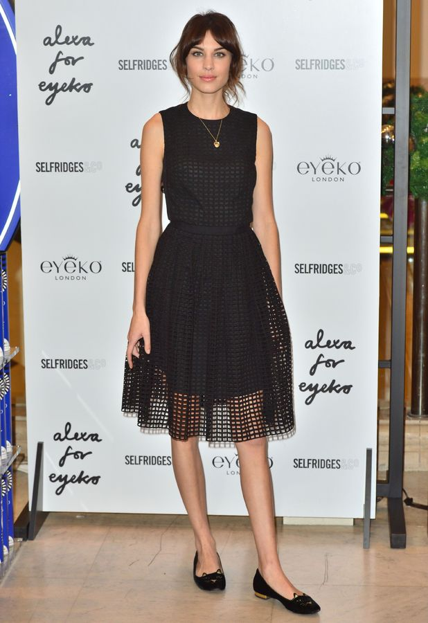 Alexa Chung - Alexa Limited Edition Eyeko Set for Eyes launch at Selfridges, London, Britain - 14 Nov 2013