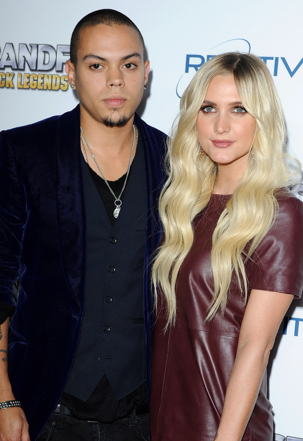 Ashlee Simpson and Evan Ross at 'BandFuse: Rock Legends' video game launch event, Los Angeles, America - 12 Nov 2013