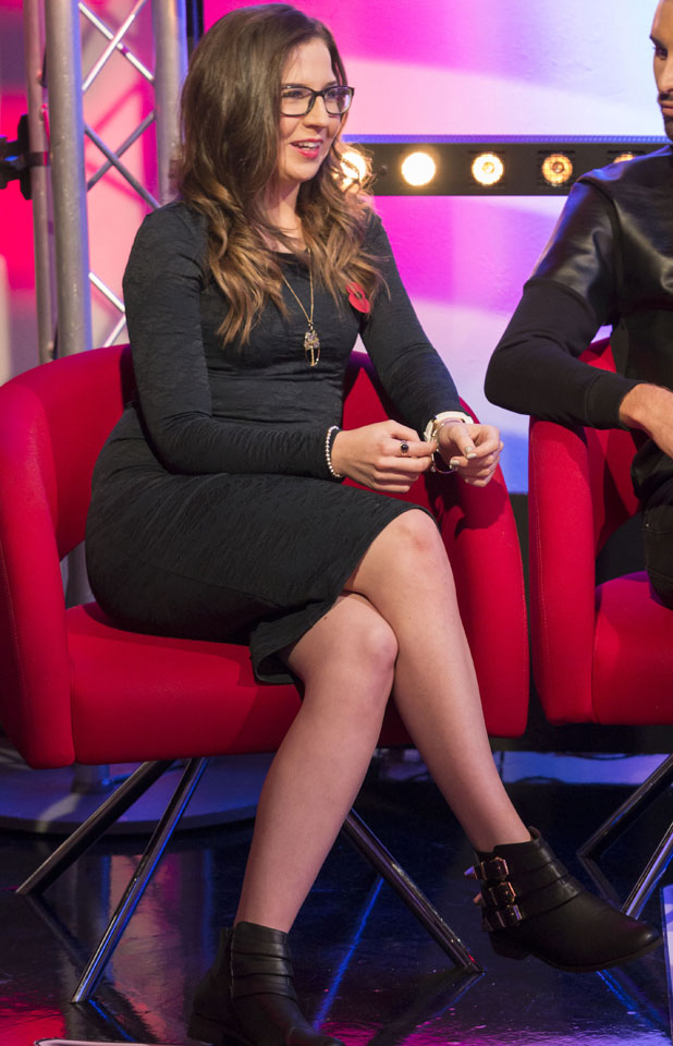 Abi Alton appears on This Morning after being eliminated from X Factor, 11 November 2013