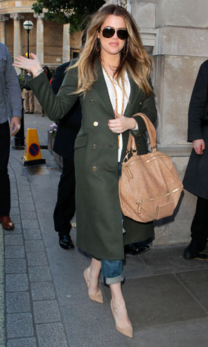 Khloe Kardashian out and about, London, Britain - 14 Nov 2013