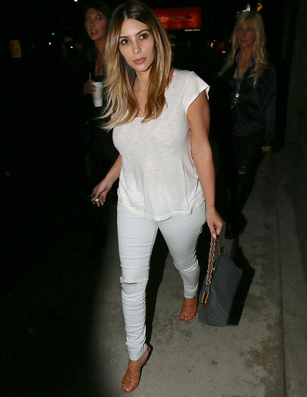 Kim Kardashian seen leaving Mashu salon with her friends Brittny Gastineau and Lisa Gastineau, 14 November 2013