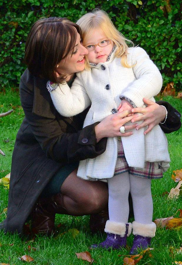 Natalie Cassidy and daughter Eliza at London Zoo, launching the Santa Experience 2013, 13 November 2013