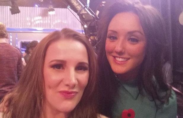 Charlotte Crosby meets Sam Bailey, 'The X Factor' TV show, London, Britain - 10 Nov 2013