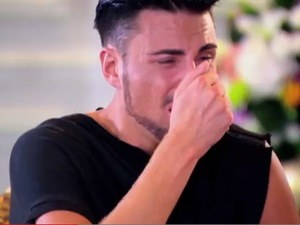 Rylan Clark finds out that he gets through to the live shows at the judges' houses stage on The X Factor.