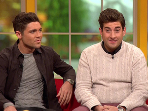 ITV1's Daybreak TOWIE's Tom Pearce and James Argent appear on 'Daybreak', to talk about Joey Essex taking part in 'I'm A Celebrity... Get Me Out Of Here!' Person In Image:	Tom Pearce, James 'Arg' Argent, Richard Arnold