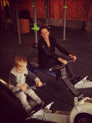 Danielle Lloyd and her son Archie hit the gym, Nov 13.