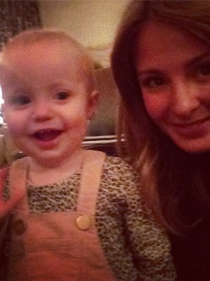 Millie Mackintosh posts a snap of her and friend's baby Lullah, 16.11.13