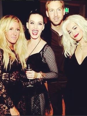 Rita Ora Instagram picture with Katy Perry, Calvin Harris, Ellie Goulding at MTV EMAs, Nov 13.