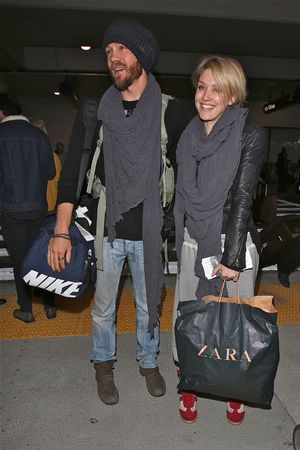 Chad Michael Murray and his new girlfriend Nicky Whelan arrive at LAX aiport, dressed in Winter fashion - 19.11.2013