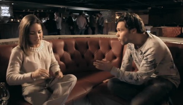 Made In Chelsea's Andy Jordan and Louise Thompson argue. Episode Monday 18 November 2013.