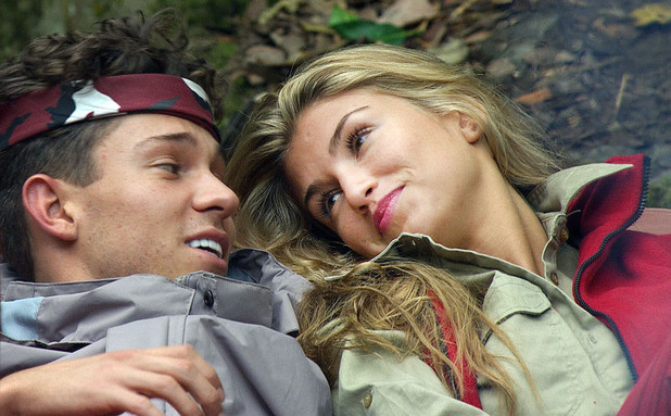 I'm A Celebrity... Get Me Out Of Here! Amy Willerton and Joey Essex get close. Episode aired: Tuesday 19th November 2013.
