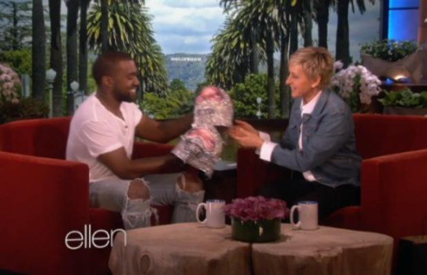 Kanye West on The Ellen DeGeneres chat show.