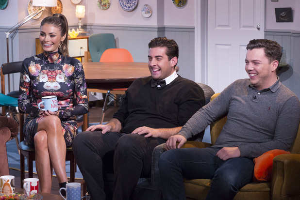'Sunday Side Up' TV Programme, London, Britain. - 17 Nov 2013 Chloe Sims, James [Arg] Argent and James [Diags] Bennewith