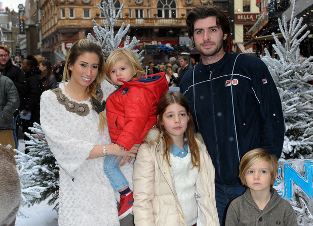 Stacey Solomon and family at Frozen Disney screening, Leicester Square, 17.11.13