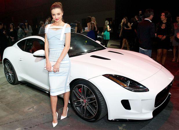 Miranda Kerr - Jaguar F-Type global reveal event, Los Angeles, America - 19 Nov 2013