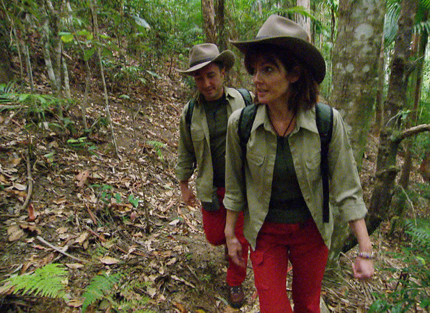Vincent Simone and Annabel Giles arrive in the I'm A Celebrity 2013 jungle, 22 November
