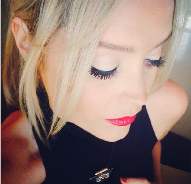 Laura Whitmore shows off her amazing Helen Dowsley false lashes in Australia, currently filming I'm a celebrity... Get me out of here! NOW! 21 November 2013