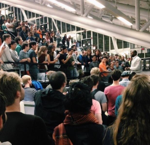 Kanye West and Virgil Abloh speak at Harvard Graduate School of Design as part of DONDA design lecture series - 17.11.2013
