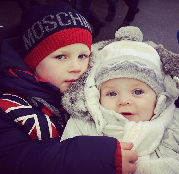 Coleen Rooney shares photo of sons Kai and Klay ready for winter - 19.11.2013