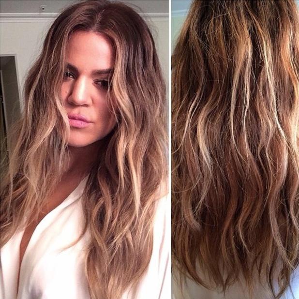 Khloe Kardashian Ombre Hairstyles