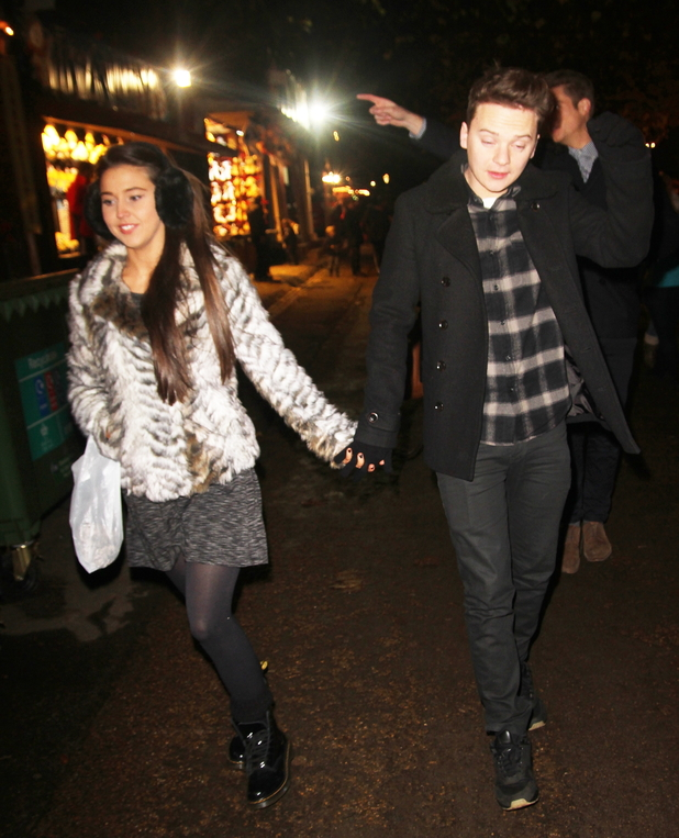 Conor Maynard and girlfriend Victoria Tansey at Winter Wonderland - 21.11.2013