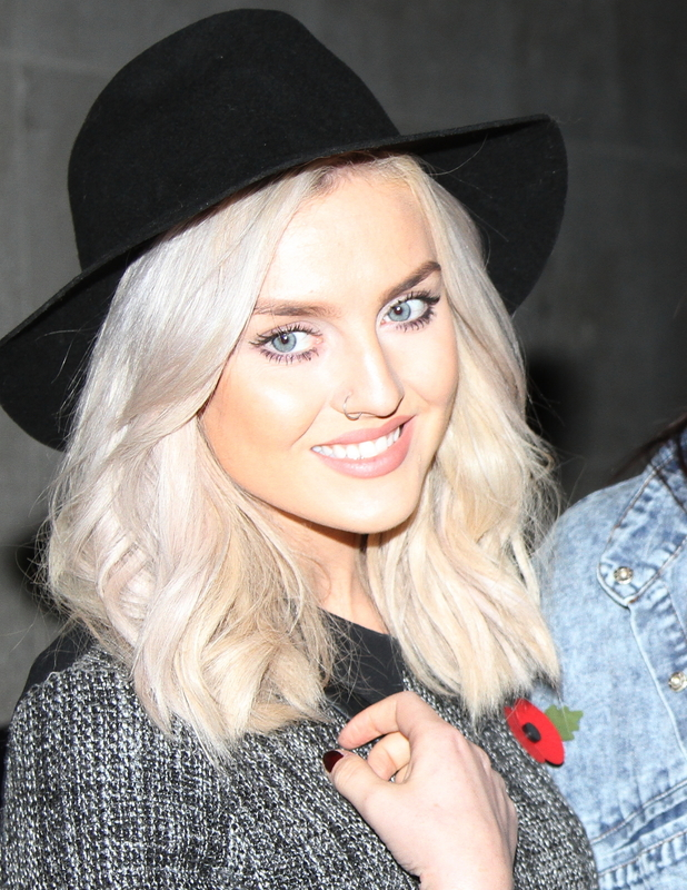 Perrie Edwards at the BBC Radio 1 studios in London - 10 November 2013