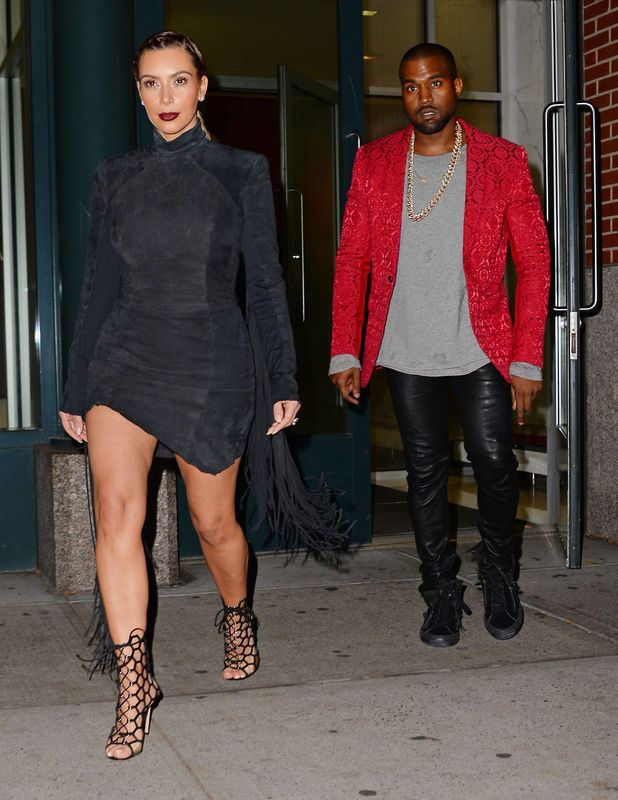 Kim Kardashian and Kanye West out and about, New York, America - 23 Nov 2013