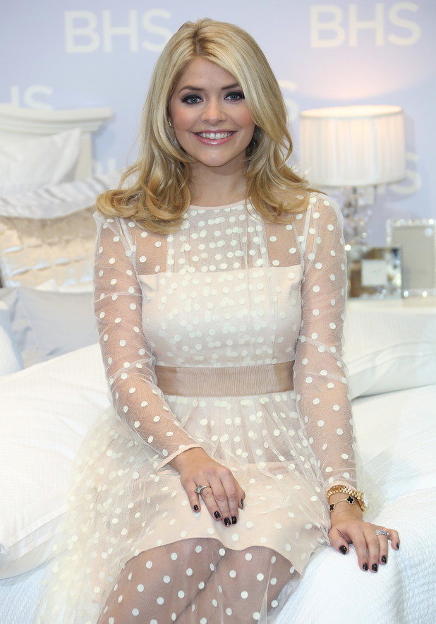 Holly Willoughby launches her first bedding collection at BHS, London, Britain - 21 Nov 2013
