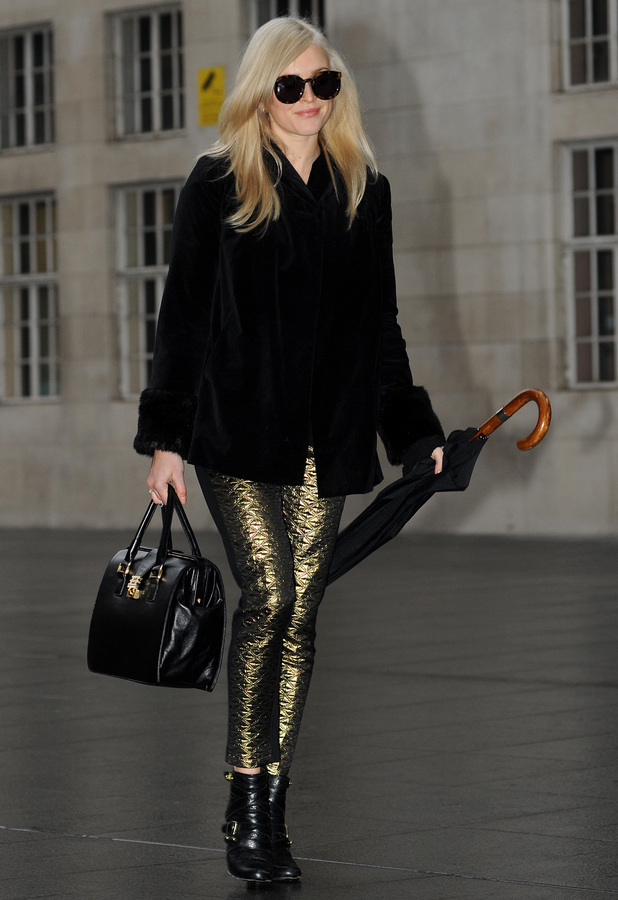 Fearne Cotton arrives at the BBC Radio 1 studios in London - 18 November 2013