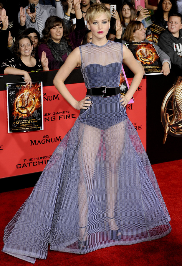 Jennifer Lawrence at 'The Hunger Games: Catching Fire' film premiere, Los Angeles, America - 18 Nov 2013