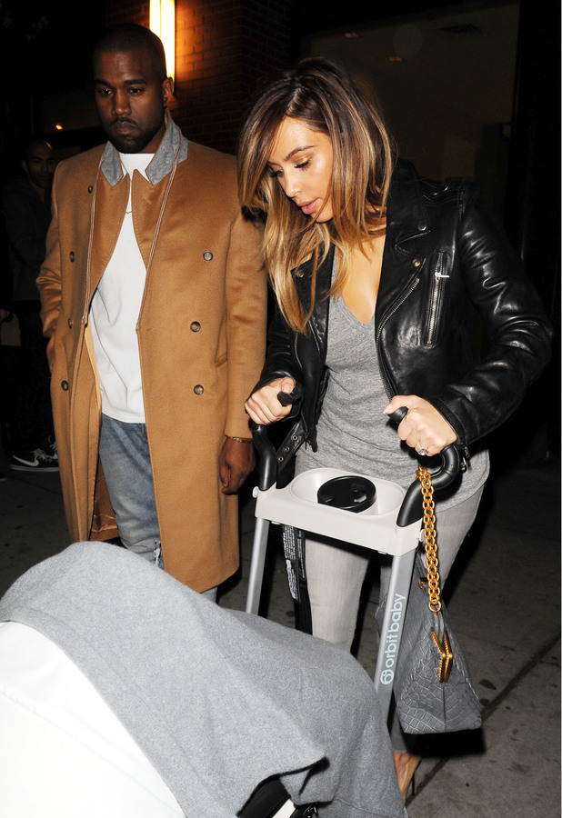 Kim Kardashian and fiancé Kanye West out and about in New York - 22 Nov 2013