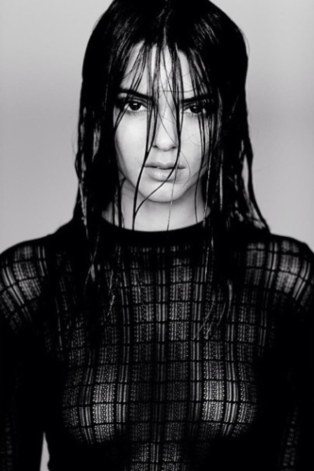 Kendall Jenner poses topless for photographer Russell James - November 2013
