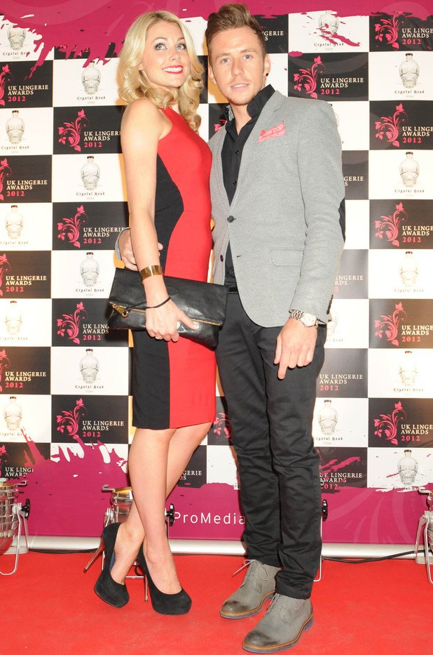 McFly and McBusted's Danny Jones with fiance Georgia Horsley at UK Lingerie Awards 2012