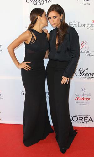 Eva Longoria and Victoria Beckham at Global Gift Gala 2013, London, 19 November 2013