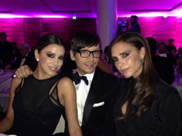 Eva Longoria, Victoria Beckham and Ken Paves at Global Gift Gala 2013, London, 19 November 2013
