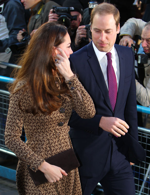 Prince William and Duchess of Cambridge arrive at Only Connect charity, London, 19 November 2013