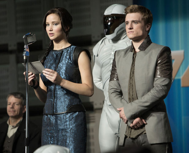 The Hunger Games: Catching Fire - Jennifer Lawrence, Josh Hutcherson in a still from movie, November 2013