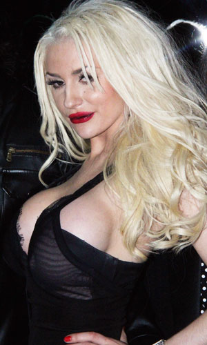 Courtney Stodden at a party in Los Angeles, 21 November 2013