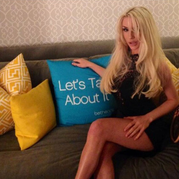 Courtney Stodden tweets a picture from the Bethenny set in New York, 14 November 2013