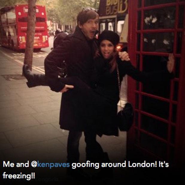 Eva Longoria and Ken Paves mess around in London, 17 November 2013