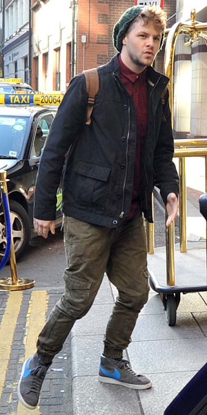 The Wanted arrive in Dublin ahead of HMV Dundrum signing and Childline Concert 2013: Jay McGuiness, 19 November 2013