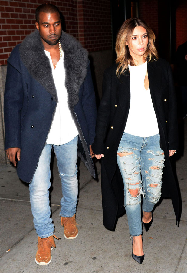 Kanye West and Kim Kardashian out and about in New York, America - 20 Nov 2013