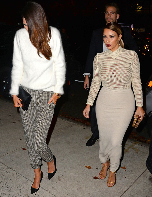 Kim Kardashian out and about, New York, America - 18 Nov 2013