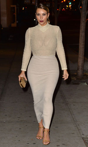 Kim Kardashian out and about, New York, America - 18 Nov 2013
