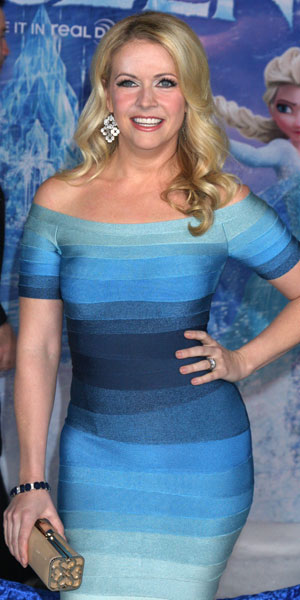 Melissa Joan Hart and her family at the Los Angeles premiere of Disney