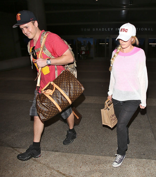 Heidi Montag, Spencer Pratt arrive at LAX and look rested from their trip to Cabo, 19 November 2013