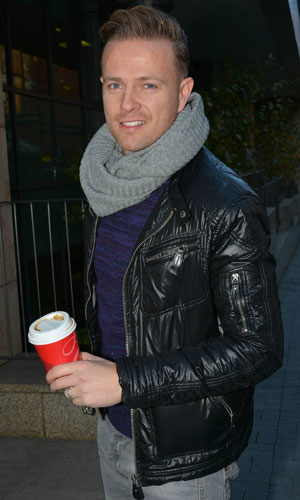 Nicky Byrne arriving at the Today FM studios in Dublin, 19 November 2013