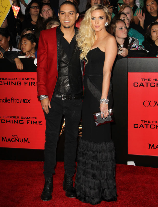 Ashlee Simpson and Evan Ross, The Hunger Games Catching Fire Premiere, Los Angeles, 18 November 2013