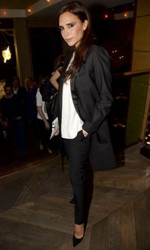 Victoria Beckham attends Kelly Hoppen MBE 'Design Masterclass' Book Launch Party, London, Britain - 18 Nov 2013